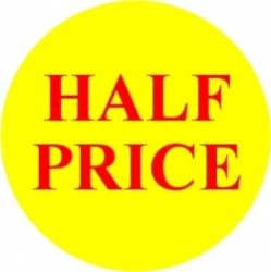 Promotional Labels -Half Price