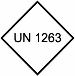 UN 1263 Hazardous Goods Label (Qty: 1,000)