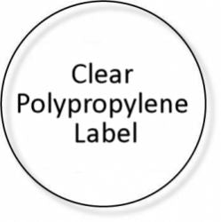 28mm Circular Gloss Clear Polypropylene Seals - 1,000 Labels