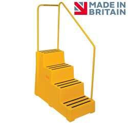 Premium Safety Steps - 4 Step with Handrail