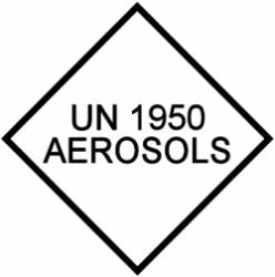 UN 1950 Aerosols Hazard Warning Labels (Qty: 1,000)