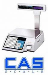 CAS CL-5000-P Label Printing Scale (With Pole Display)