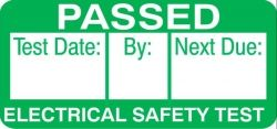 40mm x 19mm Passed Safety PAT Testing Labels