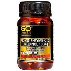 GO Healthy GO Co-Enzyme Q10 Ubiquinol 100mg Capsules 30