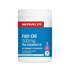 Nutralife Fish Oil 1500mg plus Vitamin D Capsules 180