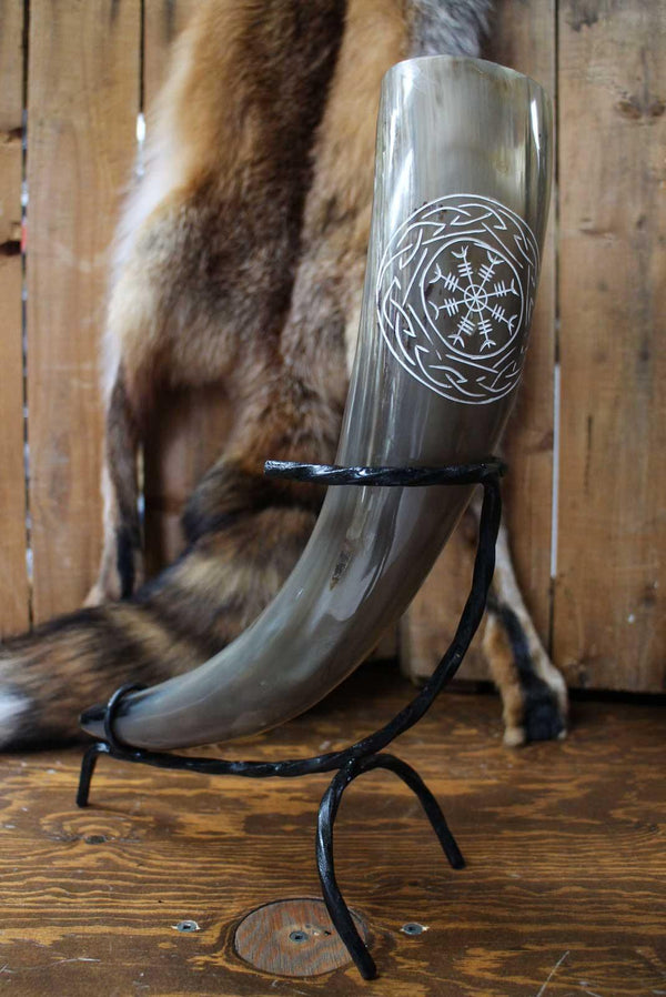 Aegishjalmur Drinking Horn, Light - 500 ml - Epic Armoury Unlimited