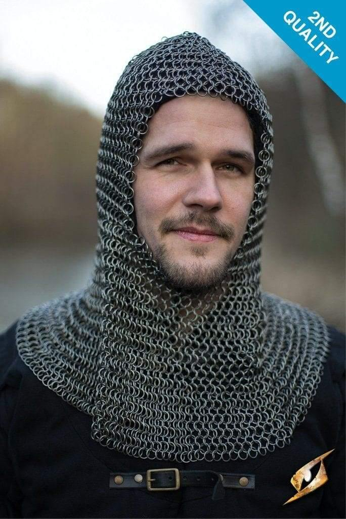 Alaric Chainmail Coif Steel (2Nd Quality) Larp Armor