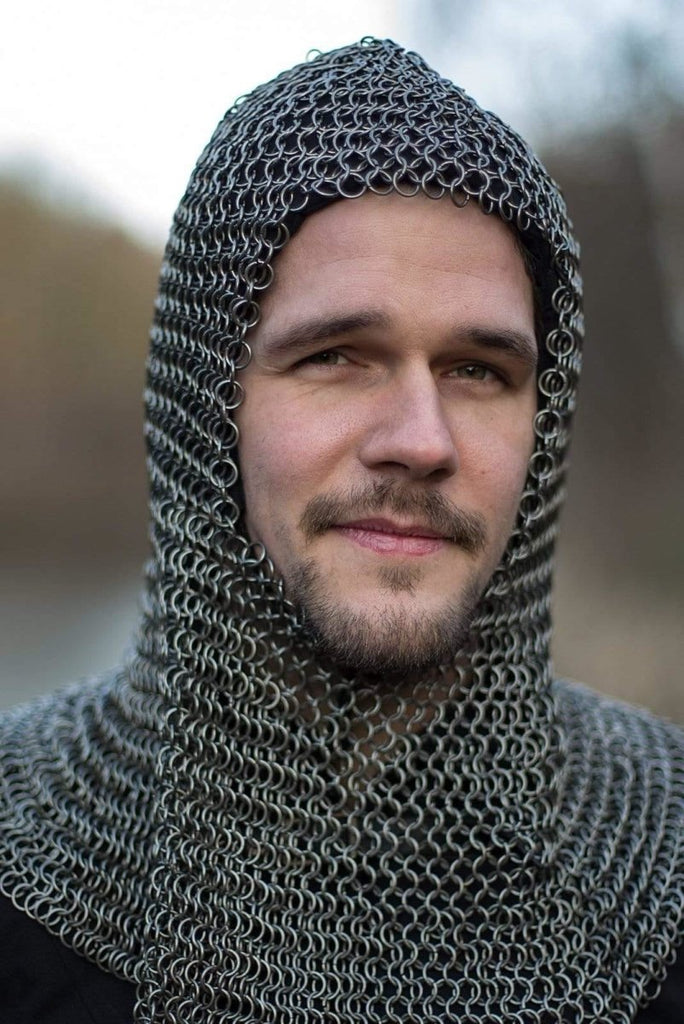 Alaric Chainmail Coif, Steel - Epic Armoury Unlimited