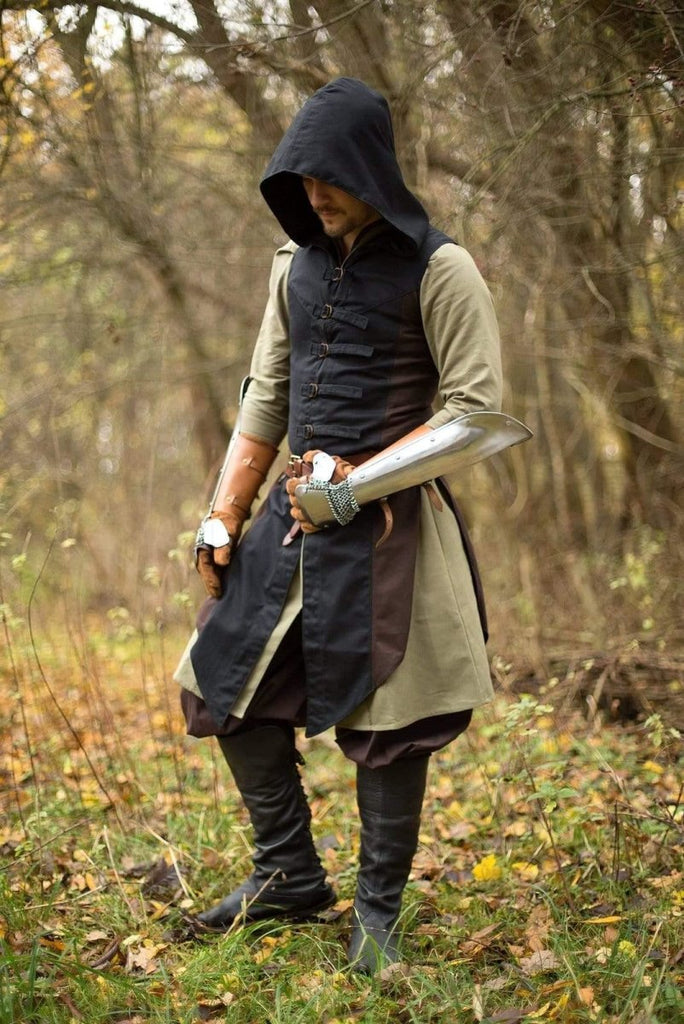 Altair Vest, Black and Brown - Epic Armoury Unlimited