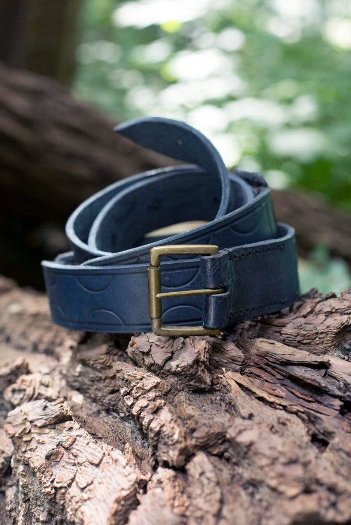 Aruthian Leather Belt, Blue - Epic Armoury Unlimited