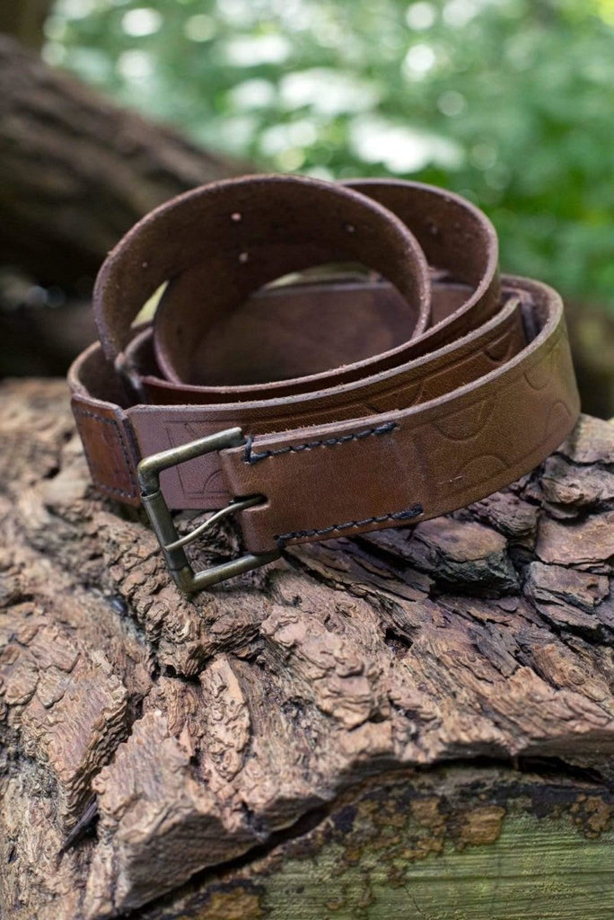 Aruthian Leather Belt, Brown - Epic Armoury Unlimited