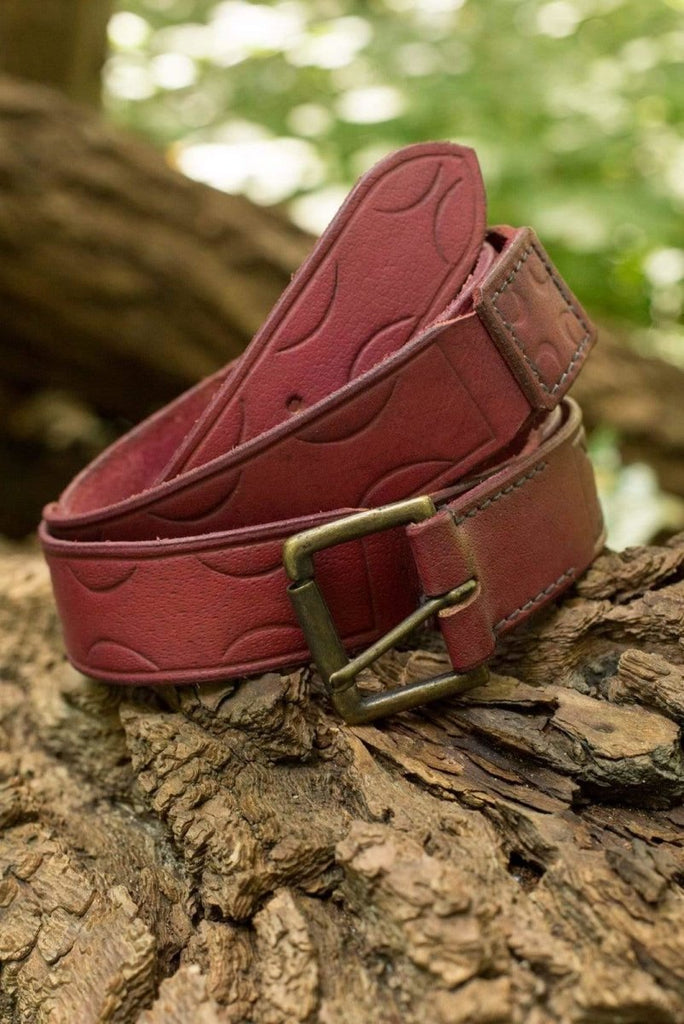 Aruthian Leather Belt, Red - Epic Armoury Unlimited