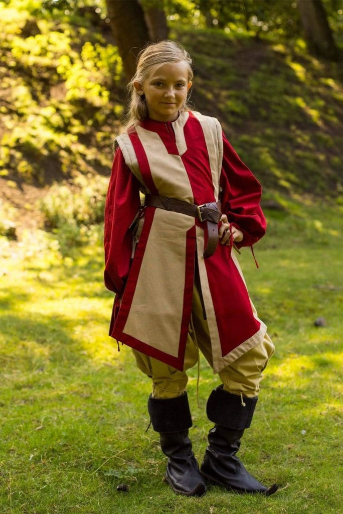 Basic Tabard, Red and Beige - Epic Armoury Unlimited