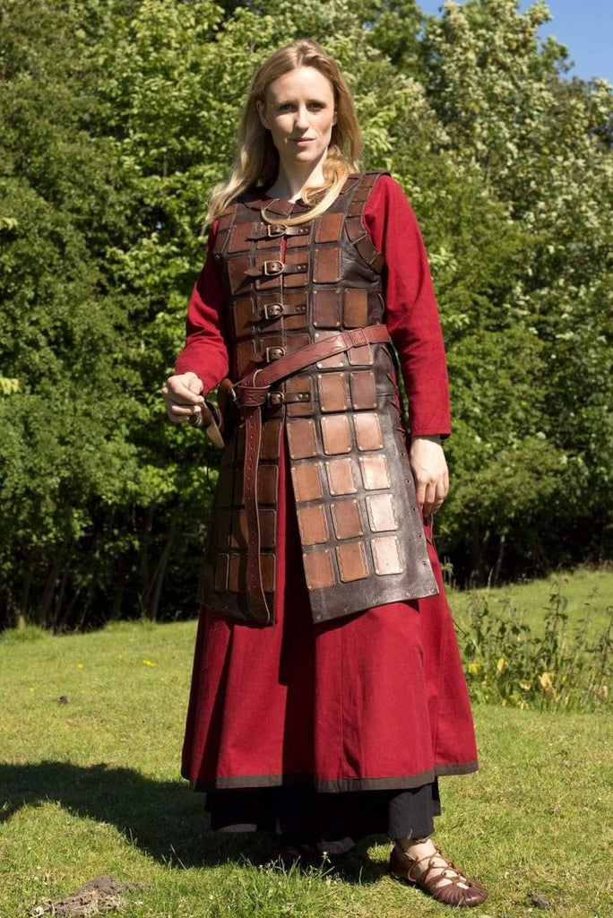 Brigandine Leather Armor, Brown - Epic Armoury Unlimited