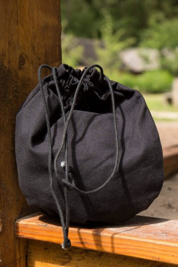 Cotton Purse, Black - Epic Armoury Unlimited