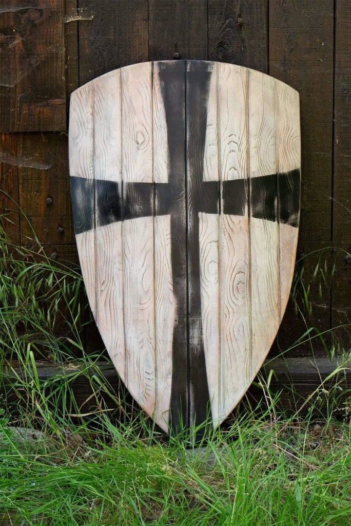 Crusader Shield, White and Black - Epic Armoury Unlimited