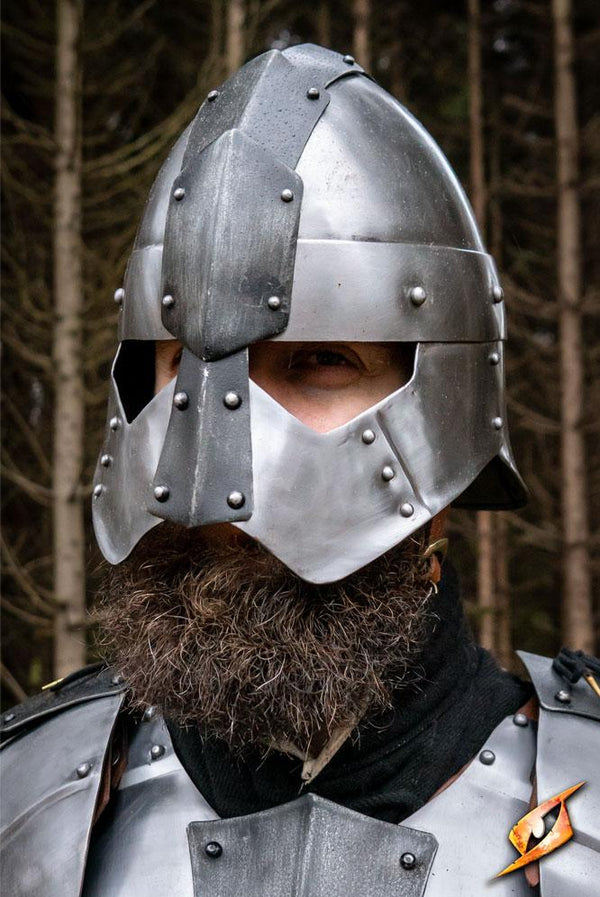 Dreki Helmet, Matte Steel - Epic Armoury Unlimited