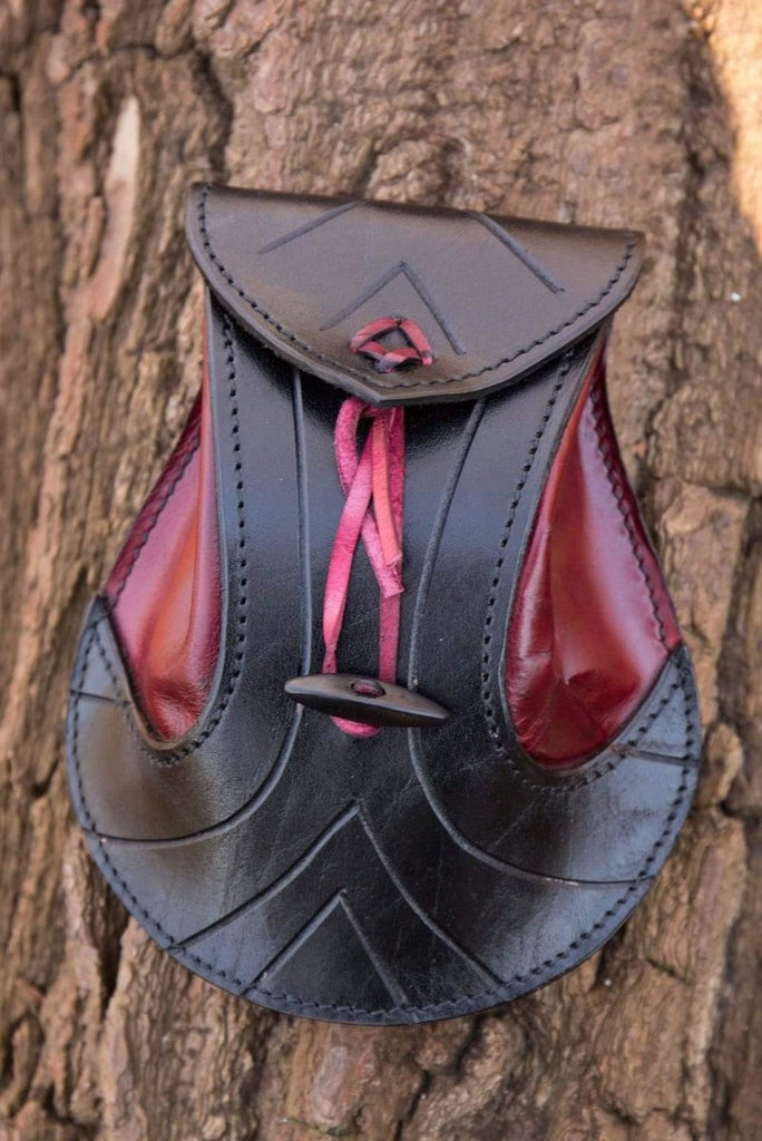 Elven Leather Pouch, Red Leather - Epic Armoury Unlimited