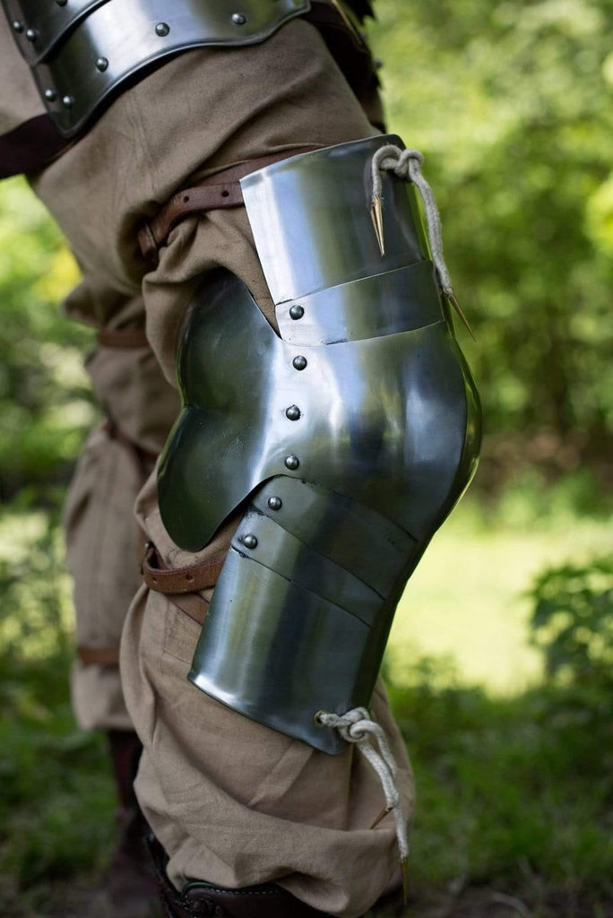 Floating Knees, Polished Steel - Epic Armoury Unlimited