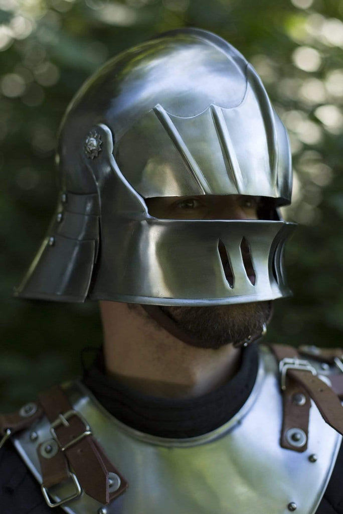 Gothic Sallet, Polished Steel - Epic Armoury Unlimited