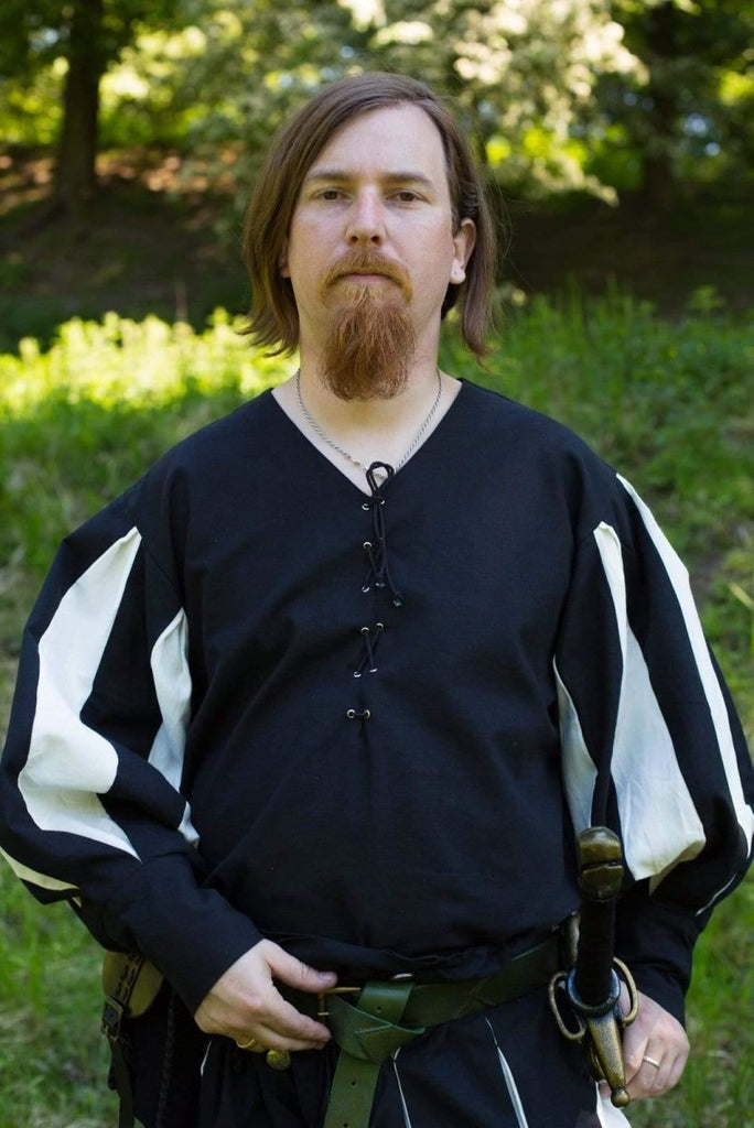 Landsknecht Shirt, Black and White - Epic Armoury Unlimited