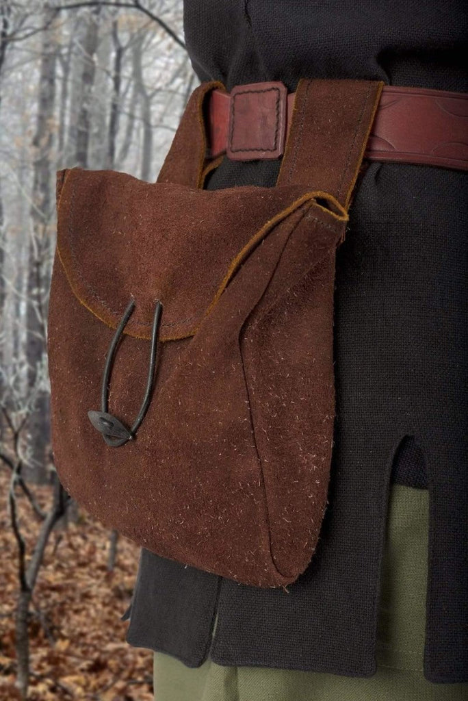 Large Thin Leather Bag, Brown - Epic Armoury Unlimited