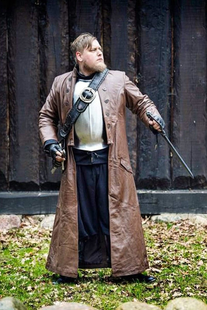 Leather Hellsing Coat, Brown - Epic Armoury Unlimited