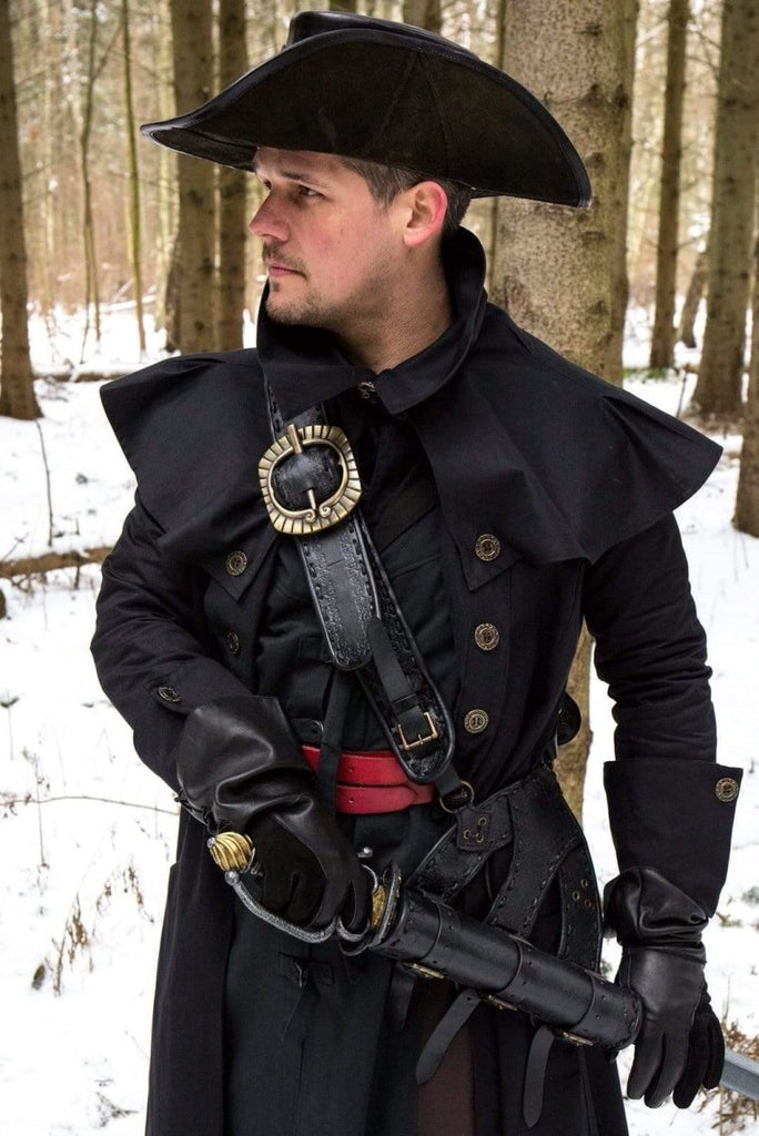 Leather Pirate Baldric, Black - Epic Armoury Unlimited