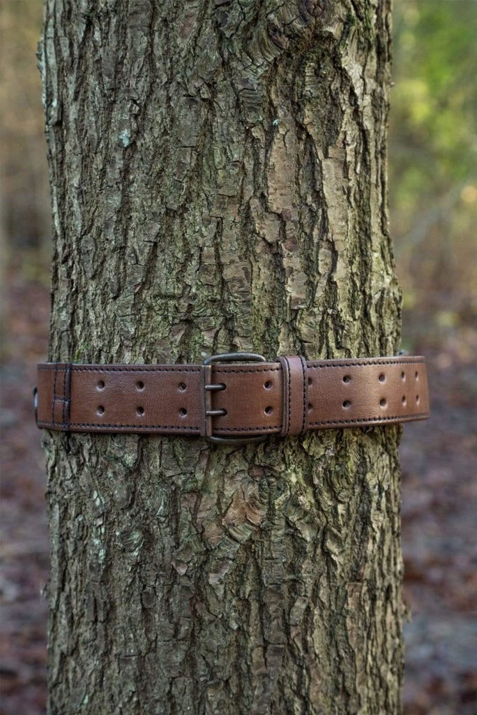 Leather Ring Belt, Brown - Epic Armoury Unlimited