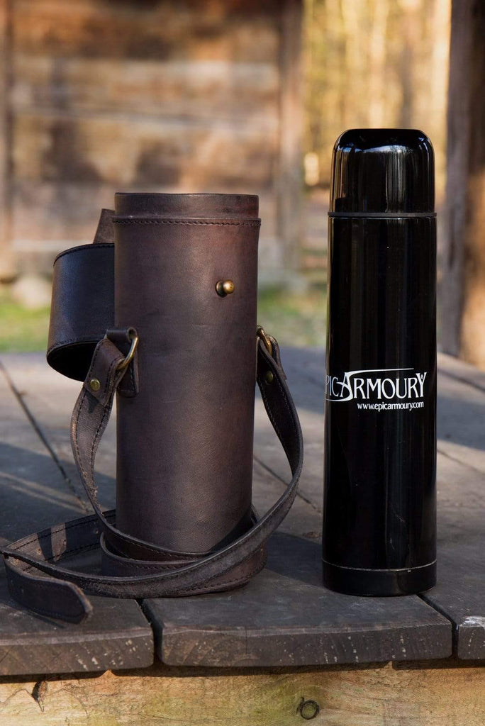 Leather Thermos Kit, Black - Epic Armoury Unlimited