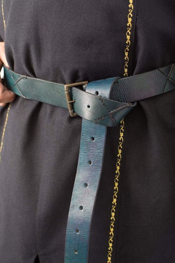 Leather X Belt, Blue - Epic Armoury Unlimited
