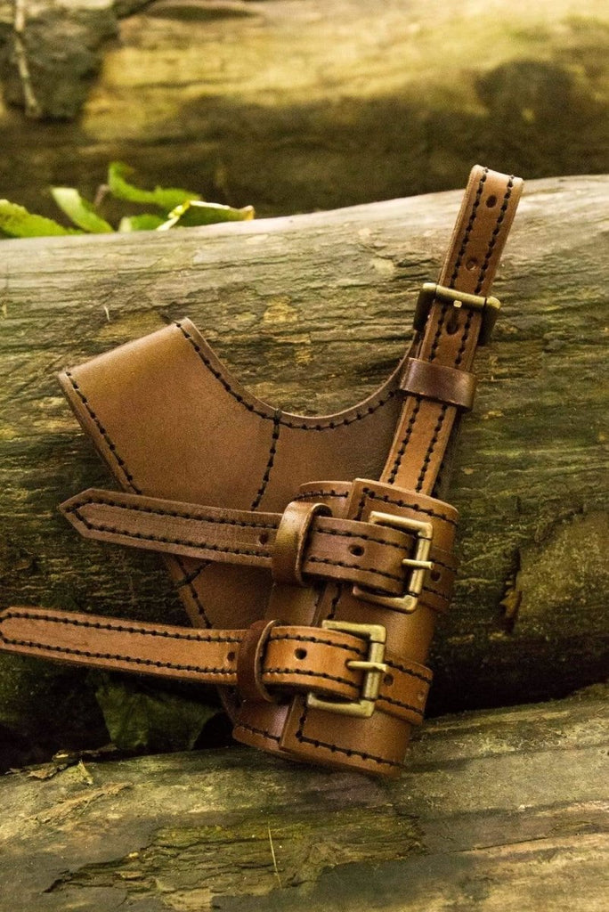 Left Hand Adventurer Sword Holder, Brown - Epic Armoury Unlimited