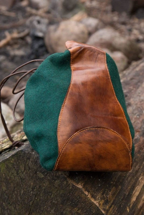 Merchant Wool Purse , Dark Green