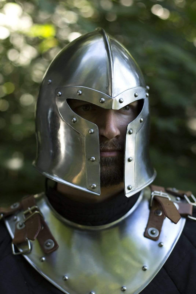 Barbuta Helmet, Polished Steel - Epic Armoury Unlimited