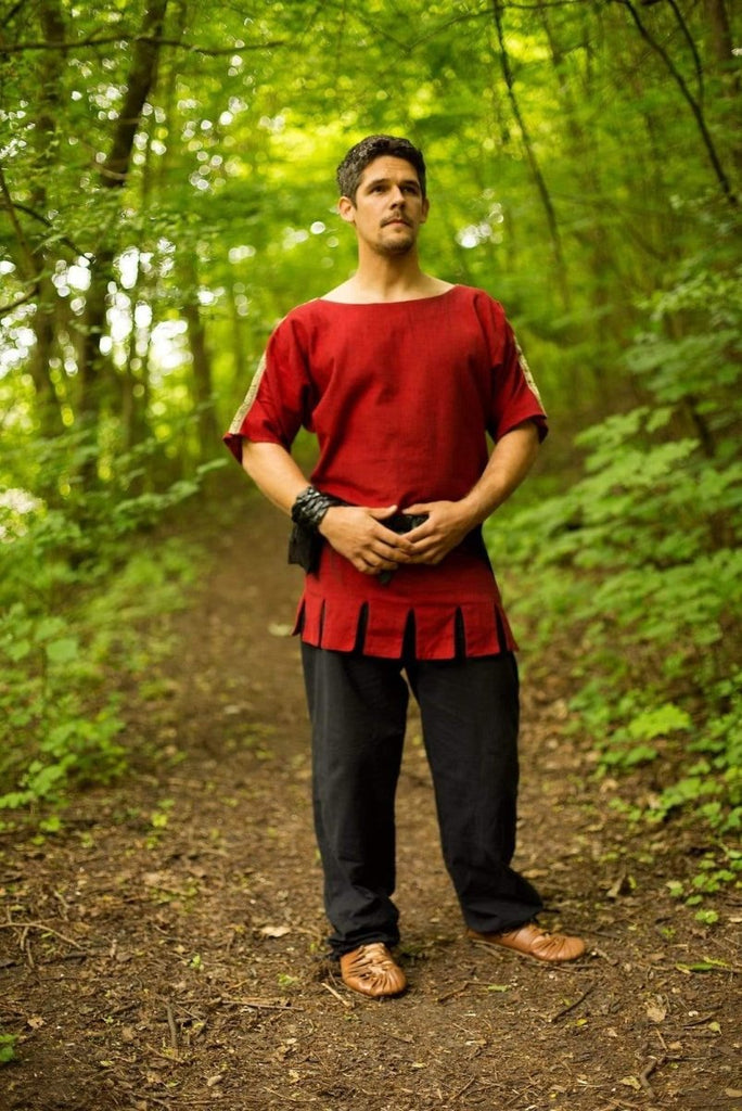 Roman Tunic, Dark Red