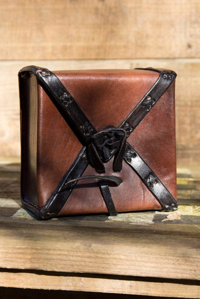 Square Leather Bag, Brown