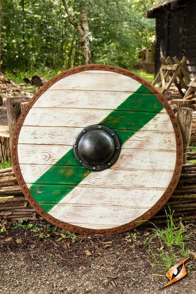 Thegn Shield, Green & White - 80 cm