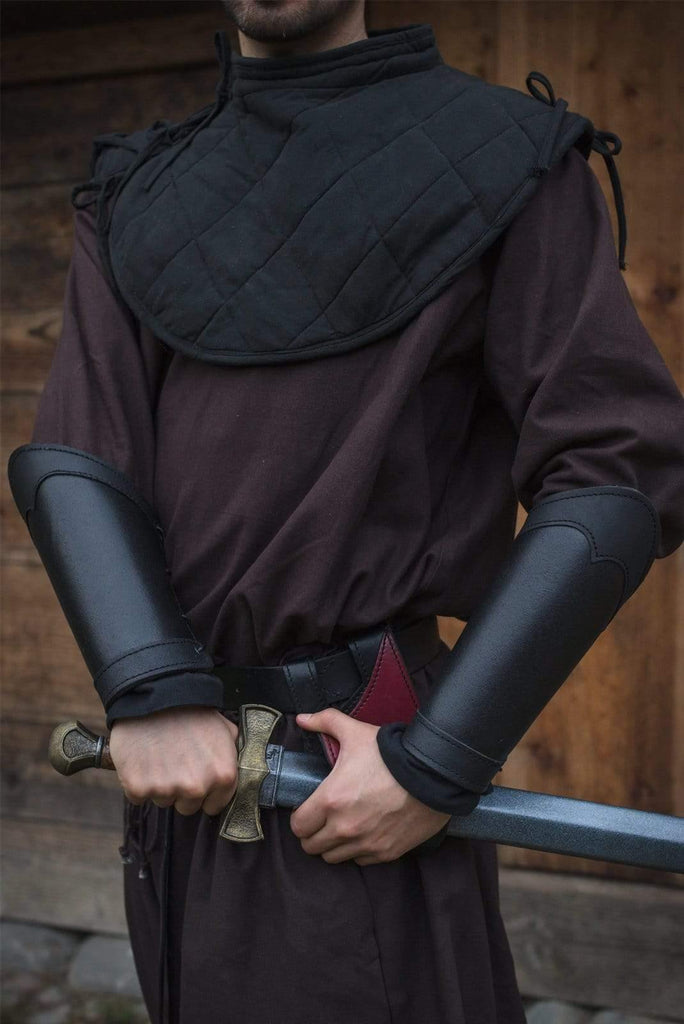 Leather Warrior Bracers, Black - Epic Armoury Unlimited