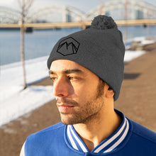 Load image into Gallery viewer, Black Embroidered Logo Beanie