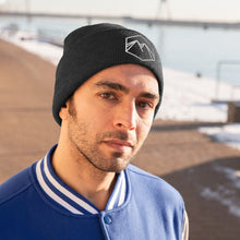Load image into Gallery viewer, White Embroidered Logo Knit Beanie