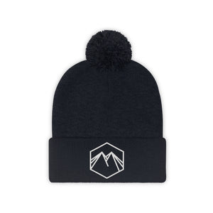 White Embroidered Lettering Beanie