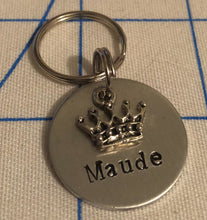 Load image into Gallery viewer, Crown Name Dog Tag