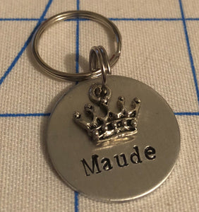 Crown Name Dog Tag