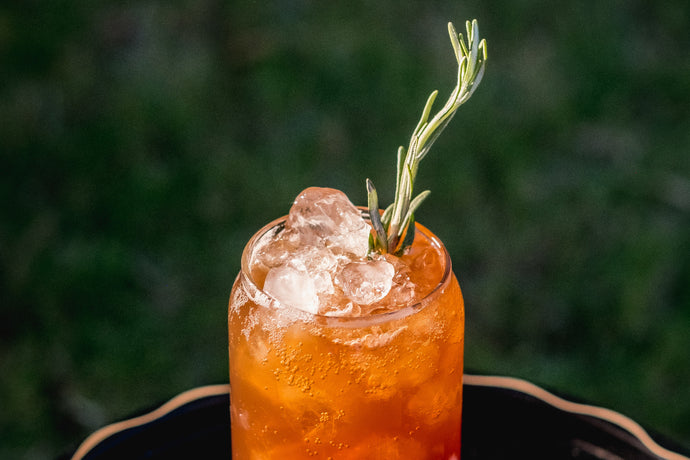 Plum + Date + Rosemary Shrub Spritzer