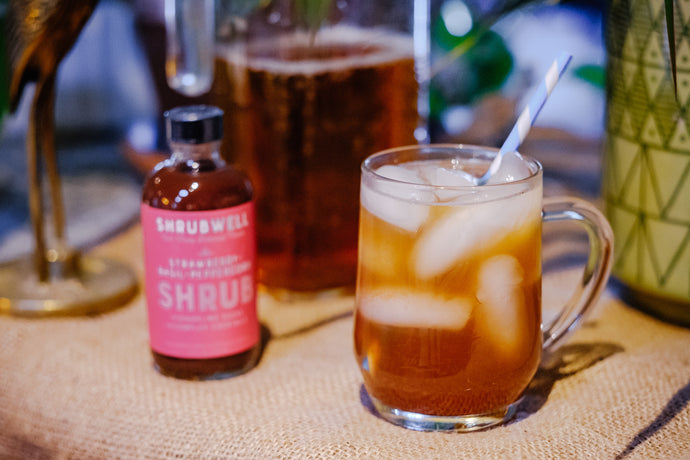 Bourbon Strawberry Iced Tea