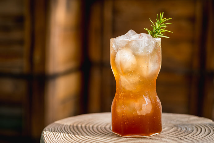 Plum + Date + Rosemary Shrub Soda