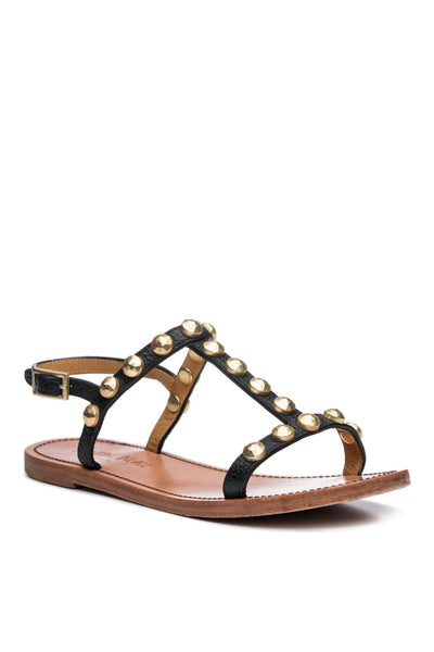 Isabella Stud Sandal in Black