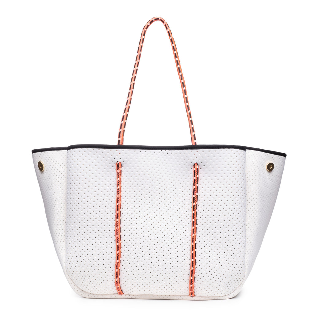 Sporty Spice White with Tangerine Straps