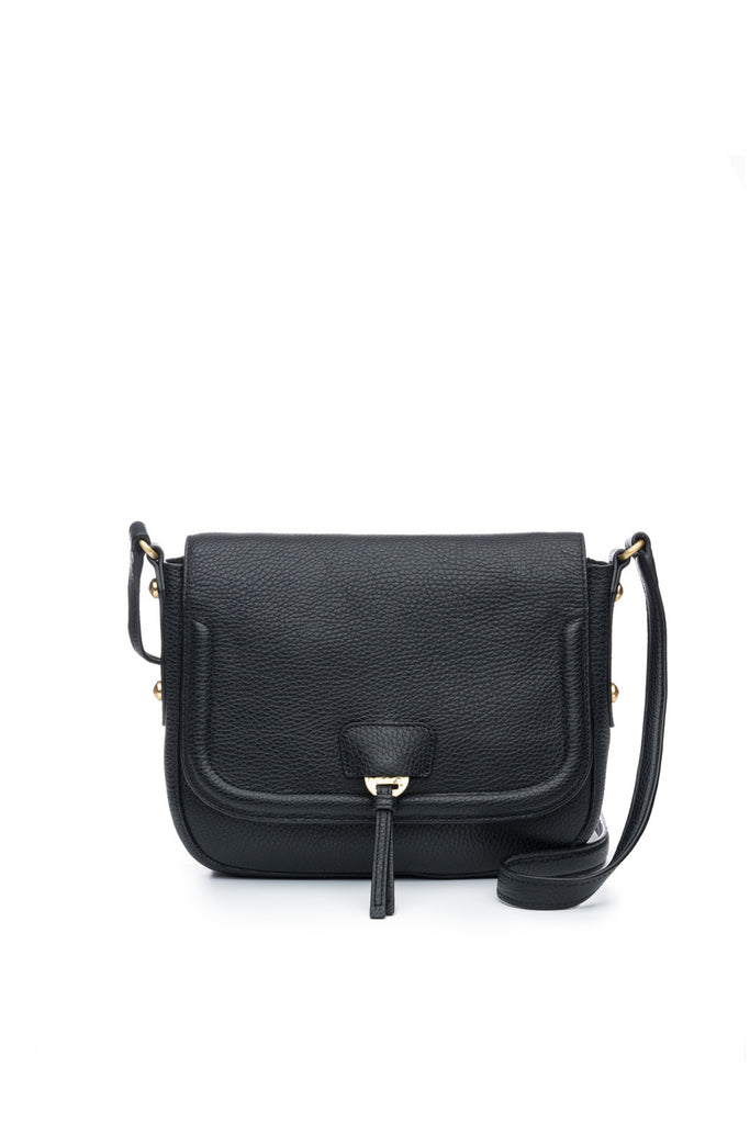 Camille Saddle Bag in Black