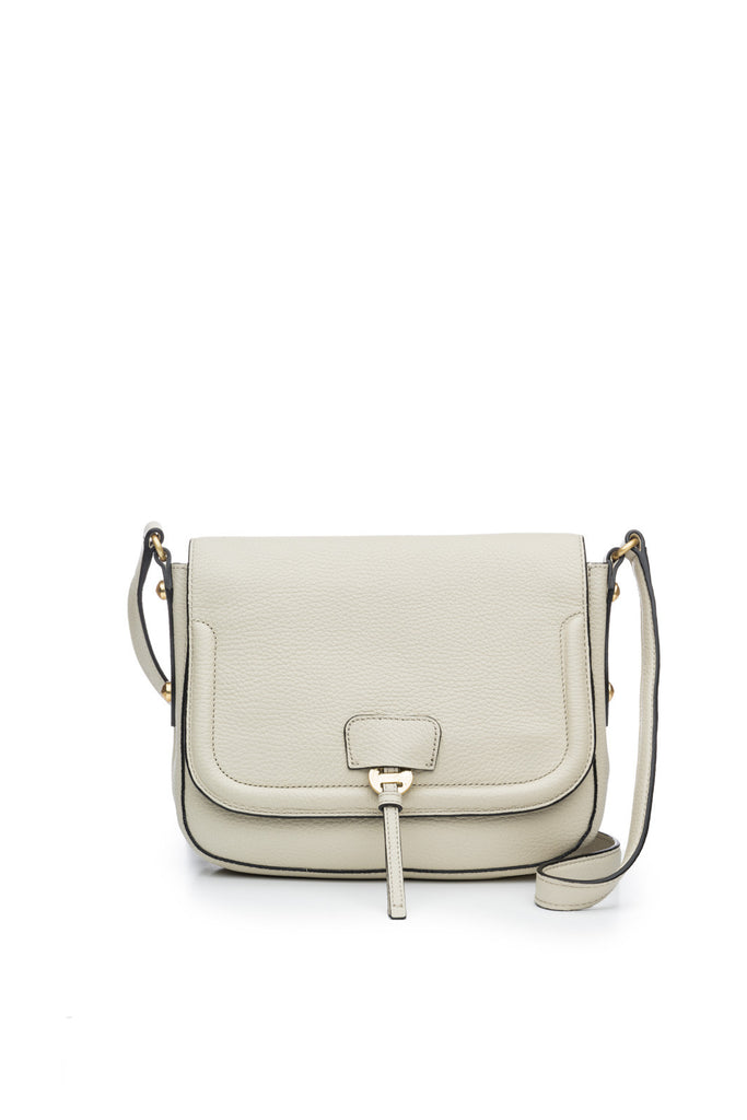 Camille Saddle Bag in Bone